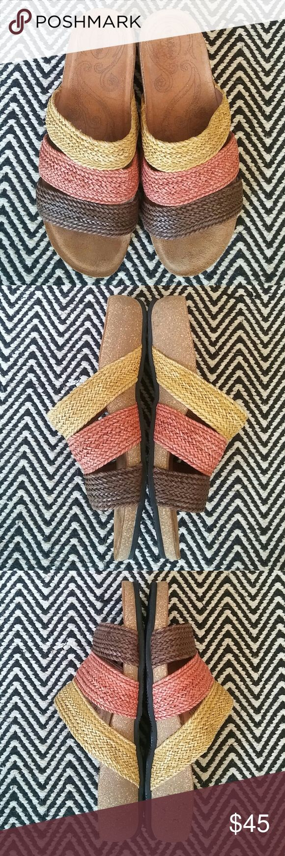 TAOS Sandals Leather interior Excellent condition! Super comfortable Made in Spain Marked Euro size 40 but they fit like 9 Taos Footwear Shoes Sandals