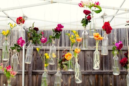 Always Andri Wedding Design Blog: A Fab Little Idea: Flowers in Hanging Bottles