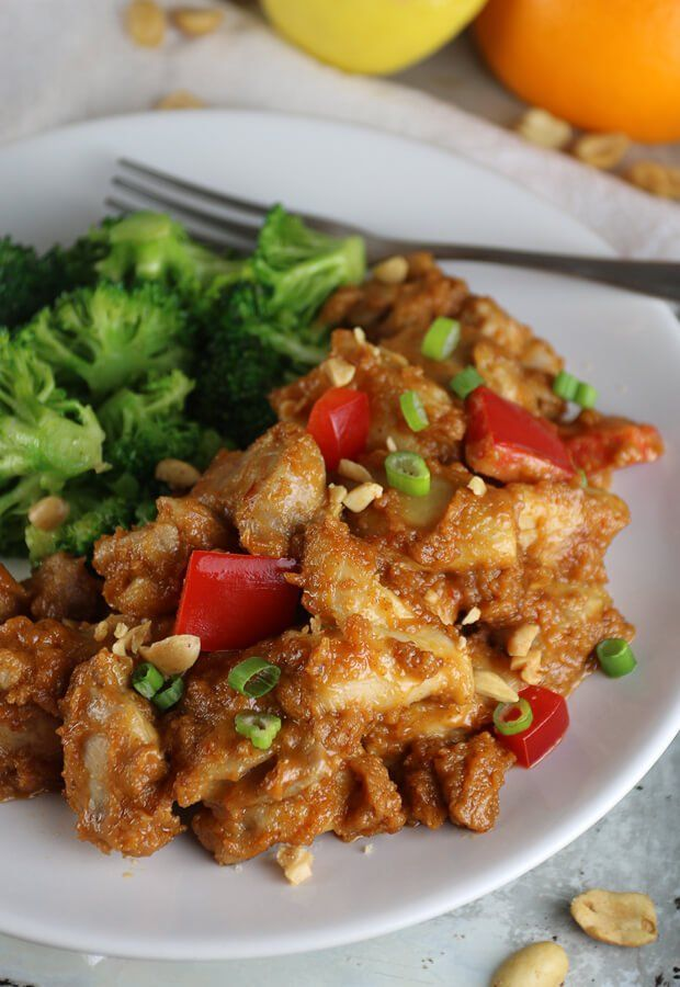 Craving peanut chicken? Get your fix on #keto with this easy but super tasty recipe! Shared via //www.ruled.me
