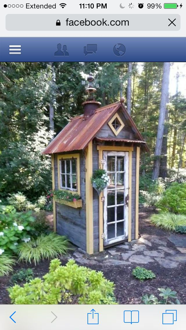 very cool recycled garden shed