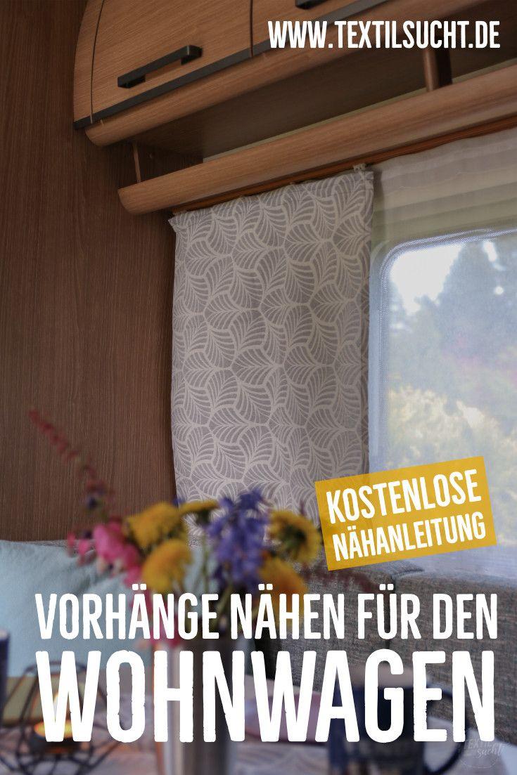 Nähen für Camper – neue Vorhänge im Wohnwagen