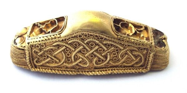Gilt bronze Anglo-Saxon sword pommel from Aldbrough c 600-650AD