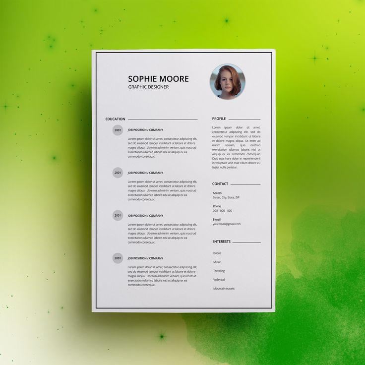 18 besten My Resume Design Bilder auf Pinterest | Lebenslauf ...