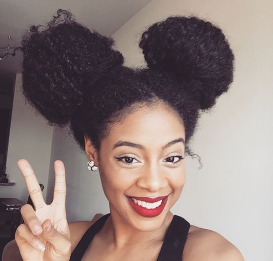 Black Natural Curly Updos