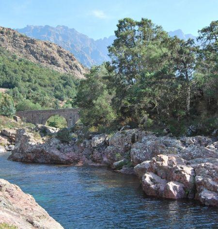 Forêts et rivières de Corse : le Fango près de Calvi