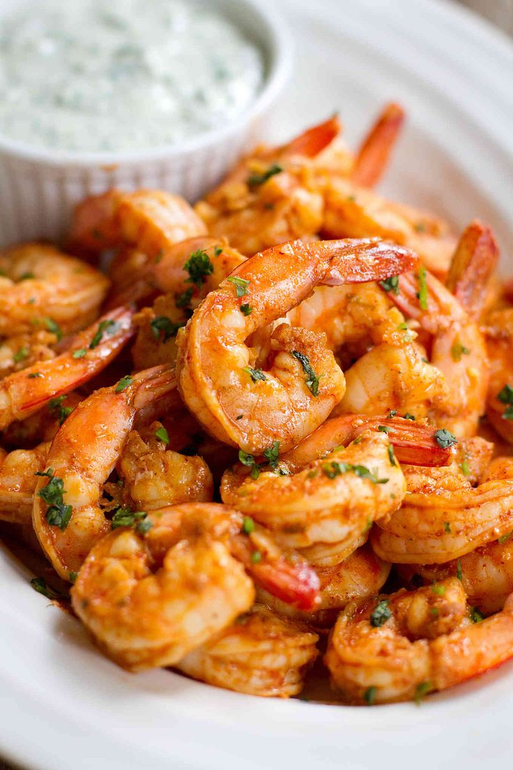Chili Lime Shrimp Recipe with Cilantro Yogurt Sauce
