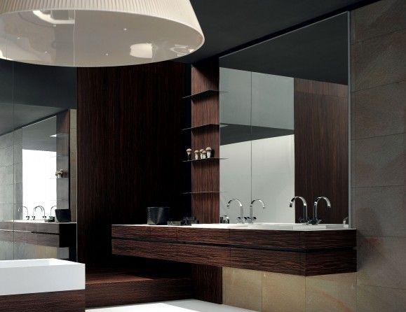 Milldue Kubik 50 Palissandro Wood Modern Italian Bathroom Vanities