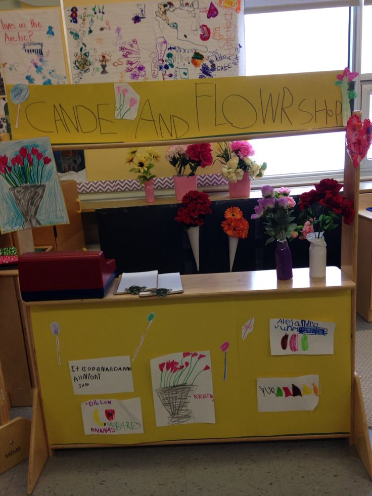 Flower and candy shop for dramatic play