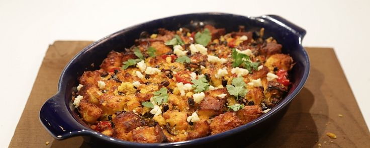 Make-Ahead Mexican Strata (from Carla, The Chew - make her cornbread first!)