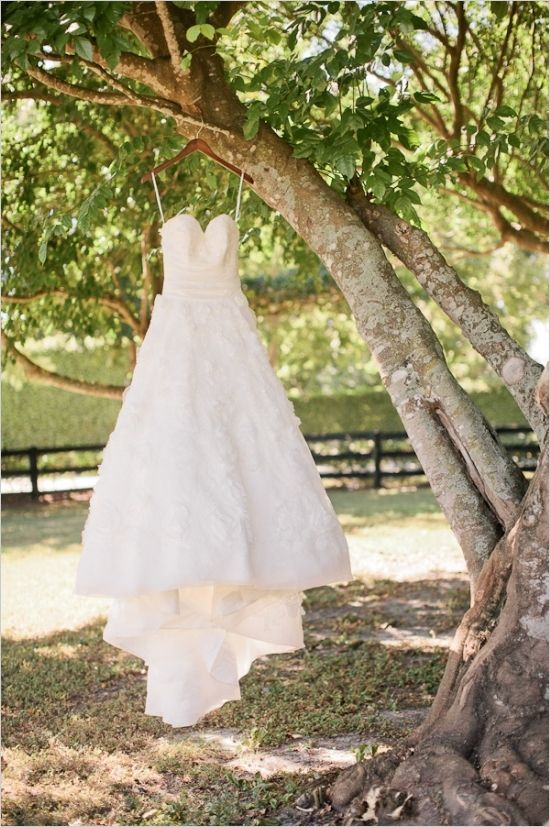poofy wedding dress from madame bridal #weddinggown #bride #weddingchicks http://www.weddingchicks.com/2014/04/07/rustic-lush-lavender-wedding/
