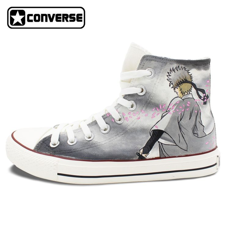 Gintama Anime Converse Chuck Taylor Mens Womens Shoes Hand Painted High Top Sneakers Man Woman Cosplay Best Gifts #Affiliate