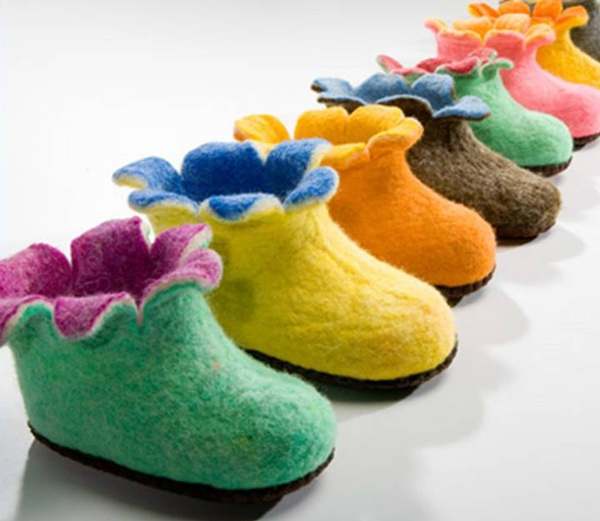 Wool felted boots - Satch & Sol fair trade