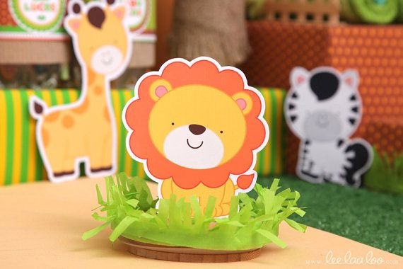 Safari Baby Shower Graphic Cutouts NonPersonalized by leelaaloo.com II #diy #party #theme #safari #animals #theme #brown #leelaaloo