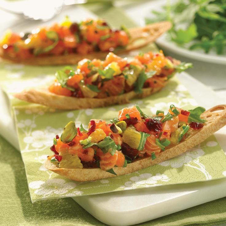 Tartare de saumon aux canneberges, pistaches et oranges - recette du livre Zéro diète
