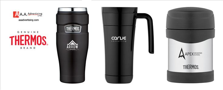 Official Thermos® Brand available from AA Advertising Ltd.  www.aaadvertising.com