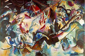 Vasilij Kandinskij; Composizione IV; 1913; olio su tela; Museo dell'Ermitage, San Pietroburgo.