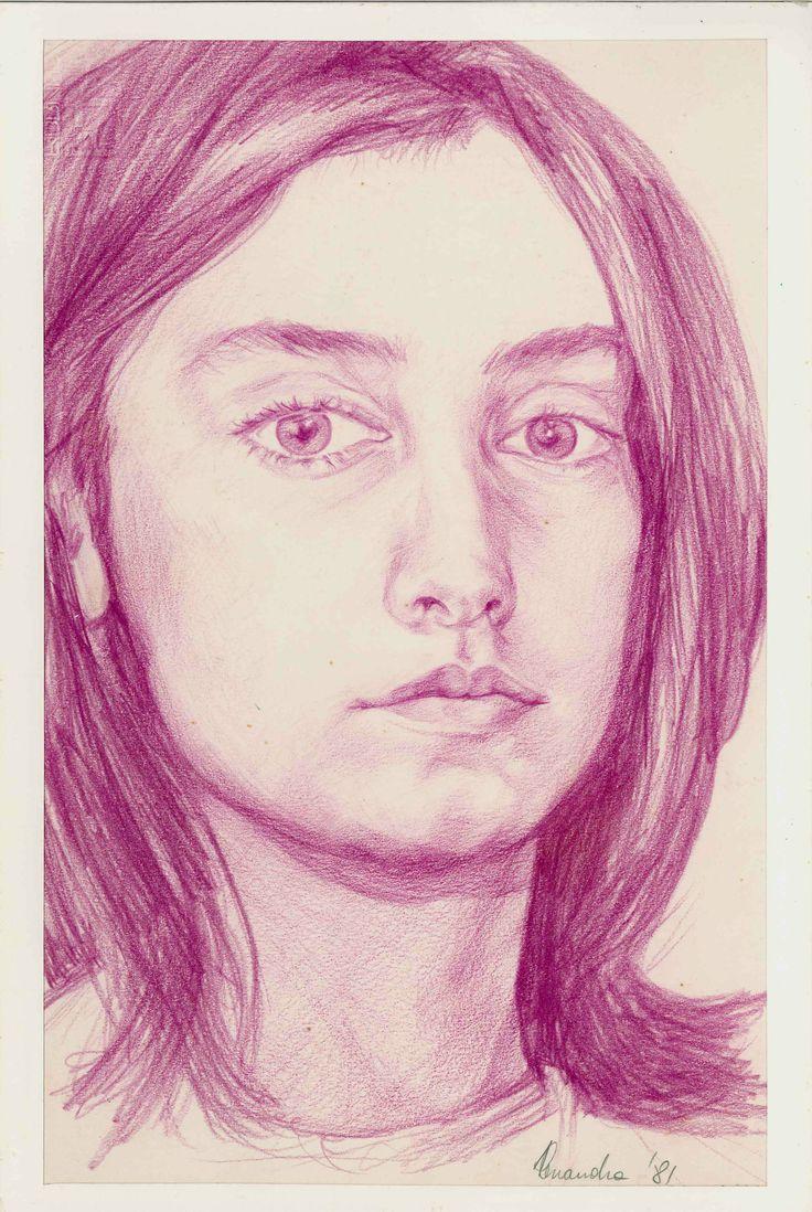 autoritratto Alessandra Canalini.....early self-portrait.