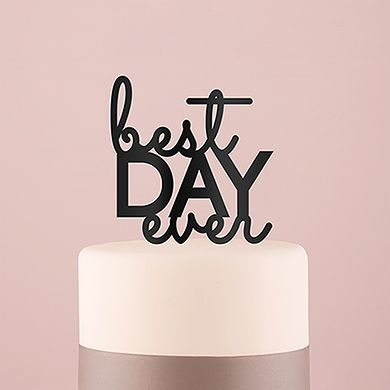 It is likely your wedding day truly will be the best day ever.   Incorporate this modern typographic sign into your wedding by adorning  your cake with this trendy, statement topper.