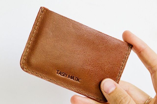 Brown leather cardholders now in-store! Why not personalise it with your own initials! #personalised