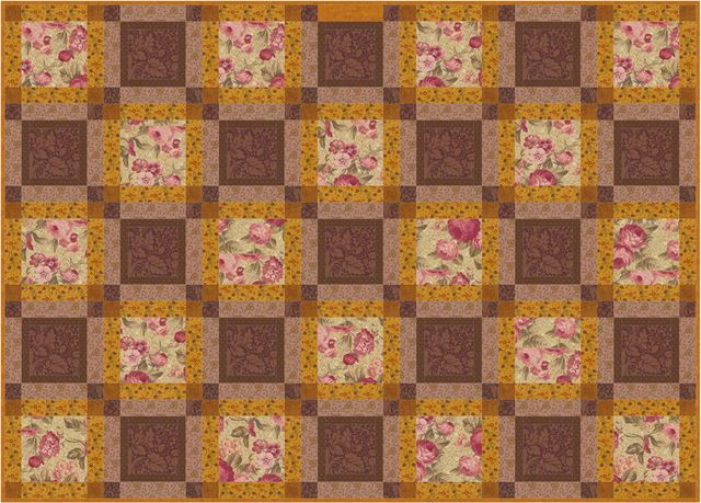 Continuous Squares, An Easy Quilt Pattern