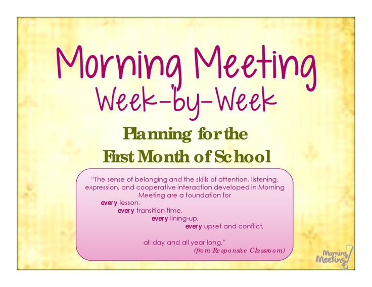 Page 1 - Morning Meeting Week-by-Week