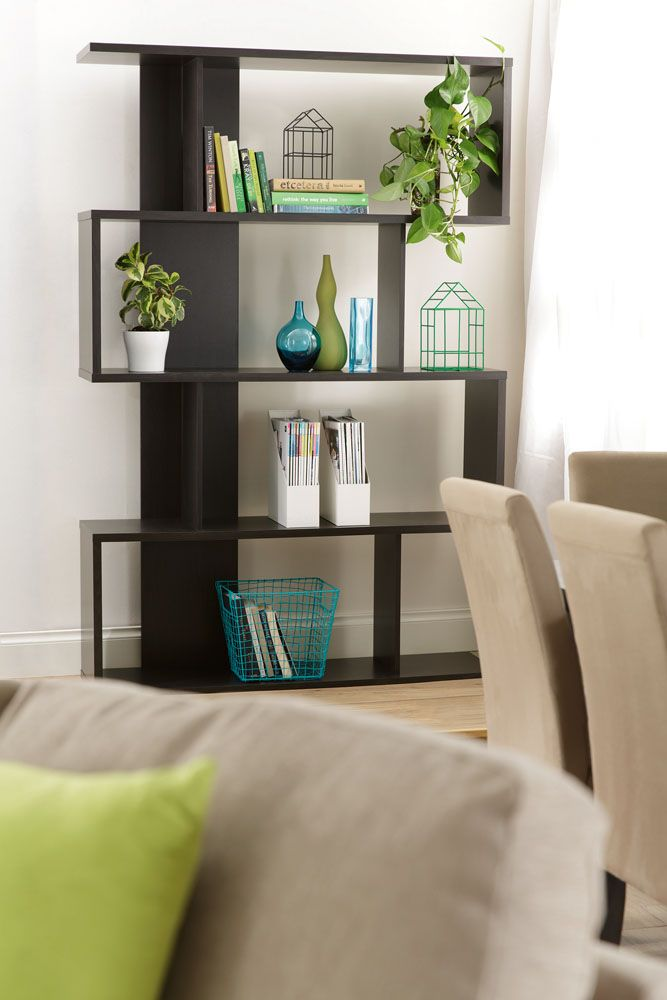 Bringing fun, flair and functionality to your home, the Zenith bookshelf provides heaps of storage for books, bags, ornaments and gadgets. Also available i  white