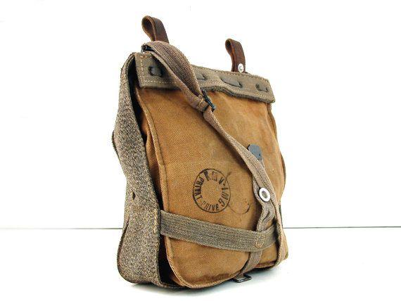 Vintage Swiss Army Messenger Bag 1940s Vintage Bags