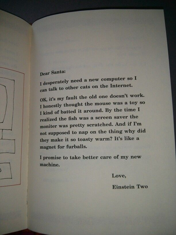 Dear Santa. Letter from Einstein Two | Sonni ** drop by for a visit ...