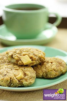 Low Sodium Recipes: Banana, Apple & Oat Cookies. #HealthyRecipes #DietRecipes #WeightlossRecipes weightloss.com.au
