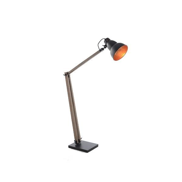 Natural Large Floor Lamp With Matte Black Shade And Inner Copper – Click Online Sales