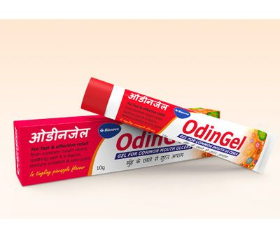 Odingel gel gives instant relief from pain & aids in faster healing of mouth ulcers. It is combination of Lignocaine hydrochloride & Choline salicylate. http://www.bionova.co.in/odingel.html