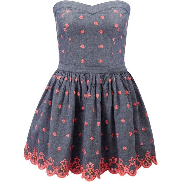 superdry 50 s daisy dress 55 liked on polyvore featuring