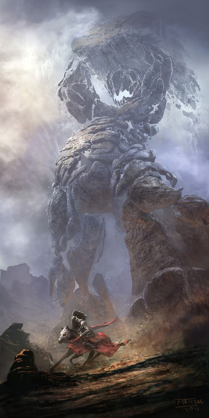 Stone Giant (artist unknown). Cool though... Reminds me of The #Hobbit