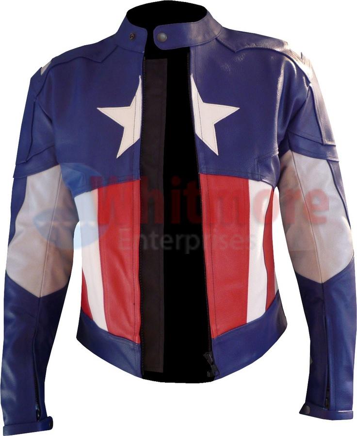 captain america leather jacket | Captain America Second Avenger Jacket - Leather Jackets