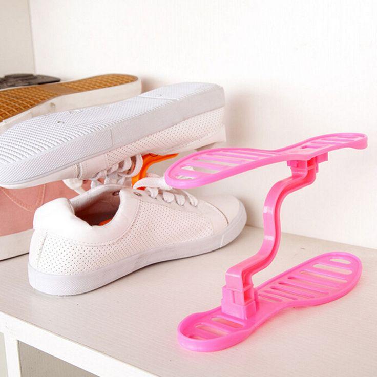 Kualitas tinggi Rak Sepatu Sepatu Rak Penyimpanan Closet Organizer Ruang Saver Rumah Tangga Portabel