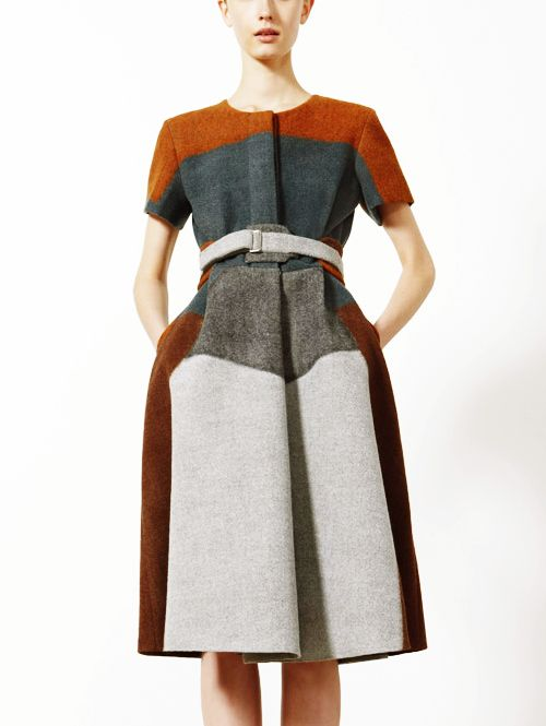graphic, structured wool.
