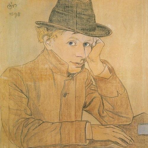 Stanisław Wyspiański, Portrait of Adolf Nowaczynski, 1898. Pastel.