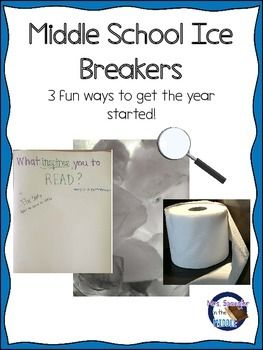"Have you ever felt a chill in the air as middle schoolers swagger into the classroom? Break the ice by getting them up, moving and having fun!Use 1 or all 3 of these fun activities to warm up the crowd! If you'd like more to choose from PLUS a ""getting to know you"" craftivity, then take a look at this:Middle School Ice Breakers with an All About Me ActivityWant more detailed plans using some of these ideas for that first week back?"