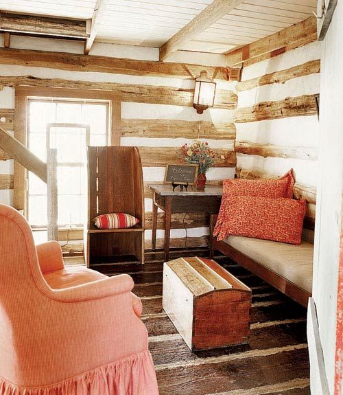 Red Coffee Table Beach House Family Room   Living Room Design Ideas And  Photos   Country