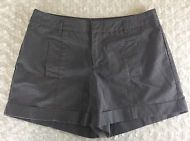 Daisey Fuentes Brown Cuff Shorts Women's Size 10 with Pockets