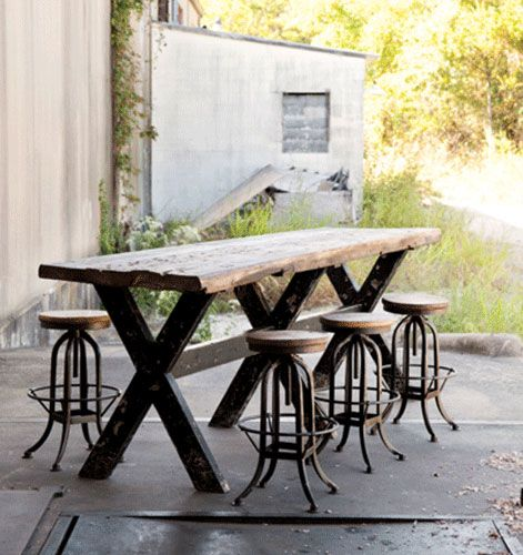 I WANT ... Barstool, Family Furniture and Decor Ideas for Industrial Chic Design at Restyle Source