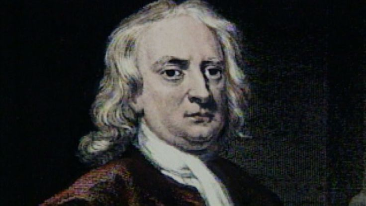 Isaac Newton is geboren op 4 januari 1643 in het gehucht Woolsthorpe-by-Colsterworth en gestorven op 31 maart 1727 in Kensington. Hij was een wetenschapper en bedacht het appelverhaal. Waarom valt de appel wel, maar de maan niet op de aarde? Hij bedacht een natuurwet, een wet die overal op aarde terug komt. Hij had bedacht dat er buiten de aarde zwaartekracht moest zijn. Deze zorgt ervoor dat we bijvoorbeeld niet van de aarde af vallen. En de maan draait in een baan om de aarde heen.
