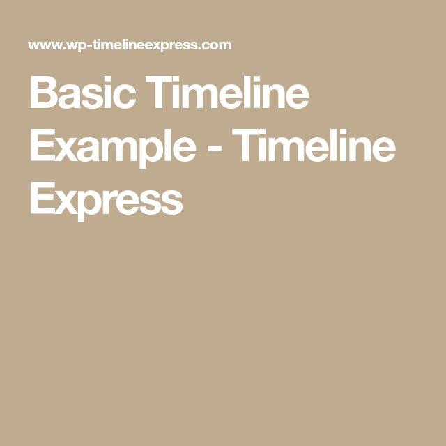 Best  Timeline Example Ideas On   Timeline