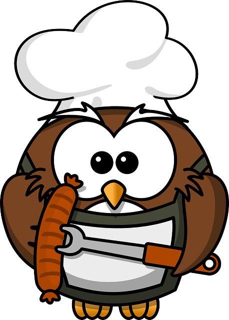 Sowa, Zwierząt, Grill, Ptak, Gotować, Zabawna, Kiełbasa