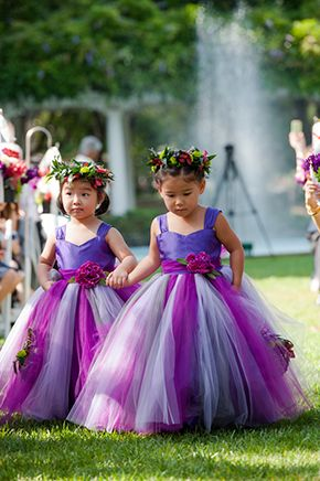 Aren't these flower girls the most adorable things in the world!? // Photo By: http://emmaandjosh.com