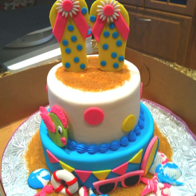 Pool Party Cake Ideas For Birthdays
