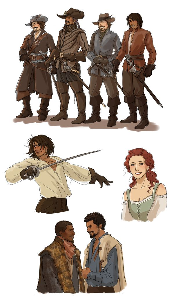 the musketeers by Spader7.deviantart.com on @DeviantArt