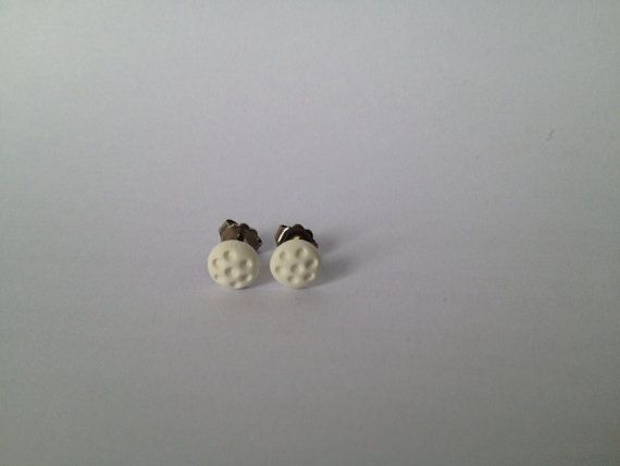 Mini White Textured Hollow Polka Dot Dome by FawknerStDesigns, $8.00