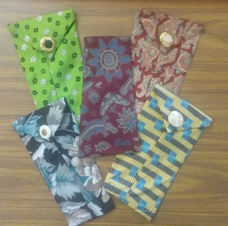 Old silk ties made into a case for your eyewear, mobile phone or tobacco pouch 😀