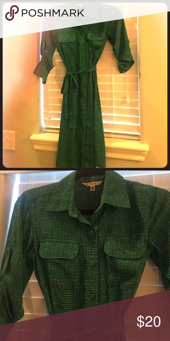 Cabi Kelly green dress Beautiful dress worn once CAbi Dresses Midi